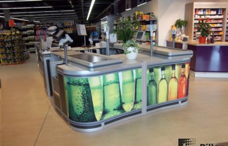 Dubbele checkout Pillen in supermarkt