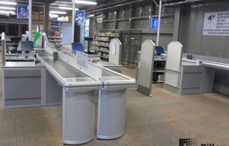 Checkouts Pillen in retailomgeving