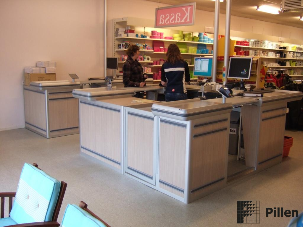 Pillen Checkouts in retail omgeving