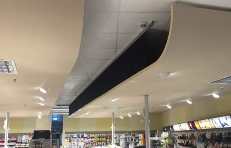 Plafond oplossing door Pillen checkouts